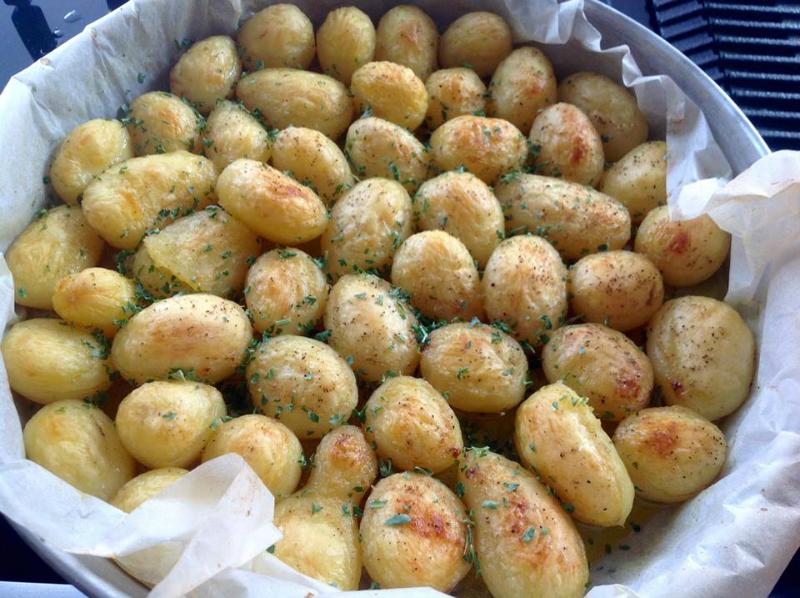 Fondant aardappeltjes uit de oven