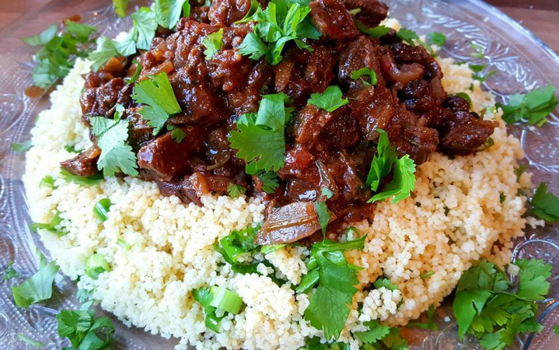 Noord-Afrikaanse stoofpot met couscous