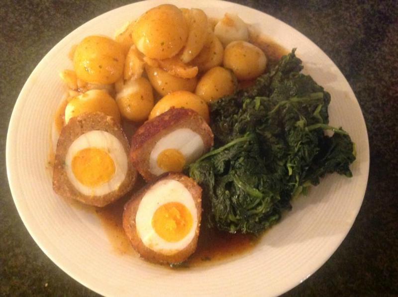 Schotse eieren (gehaktballen gevuld met ei)