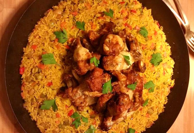 Marokkaanse rijst met groente en kip