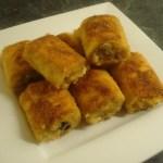Gefrituurde wrapbroodjes met tonijn