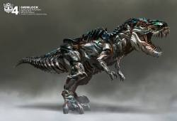 Few TRANSFORMERS: AGE OF EXTINCTION Early Dinobots Concept Art