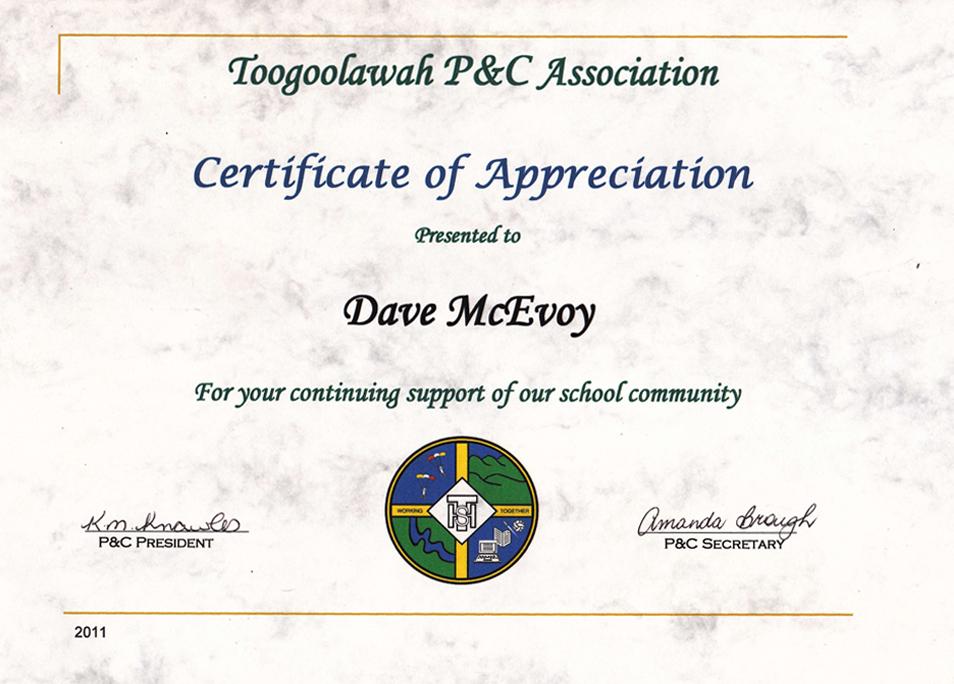Certificates of Appreciation Skydive Ramblers - certificate of appreciation