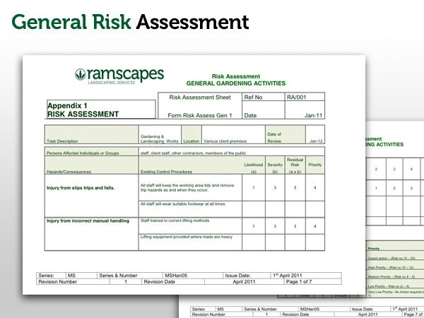 Ramscapes Health and Safety Policy Commercial Landscaping Company - health safety risk assessment