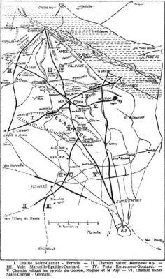 Recherches sur les voies préromaines de la Trévaresse et du plateau de Rognes vers la Durance - Maurice Coquet