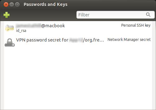 Managing SSH-KEY with GUI on Ubuntu