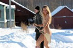 shovelin snow in the nude