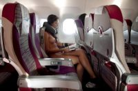 nude on the plane