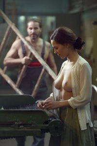 Topless Worker