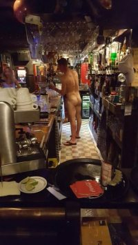 Nude bar Tender