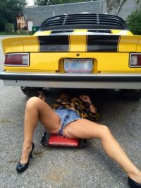 mechanic upskirt