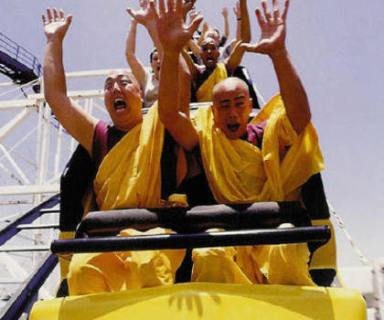 Buddhist Monks on a Roller Coaster