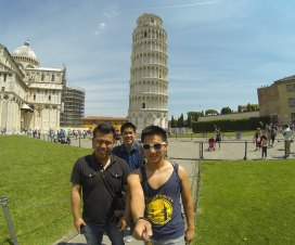 At Leaning Tower of Pisa