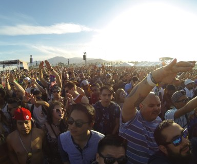 The crowd at Coachella 2015