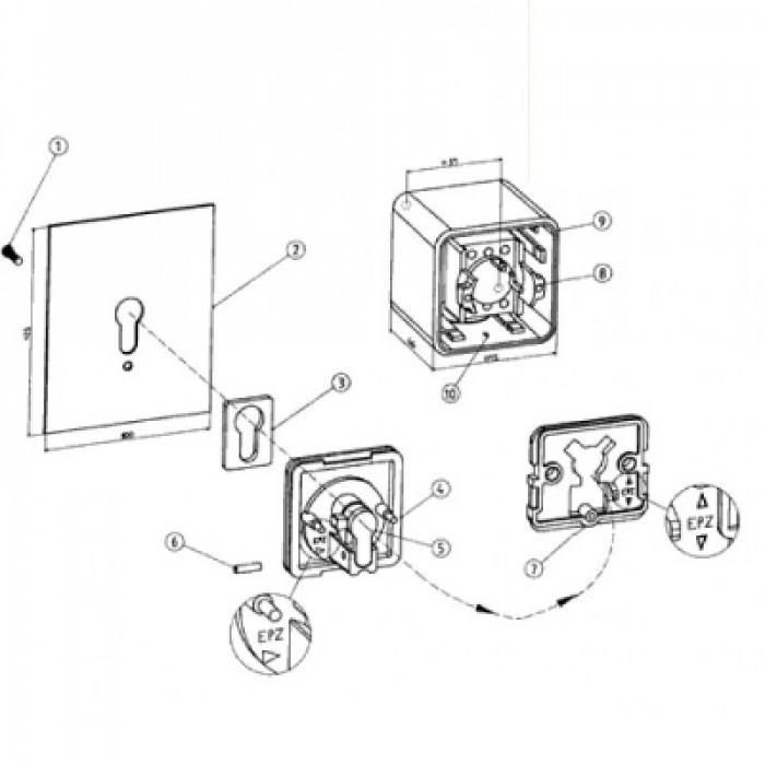 wiring diagram roller shutter key switch