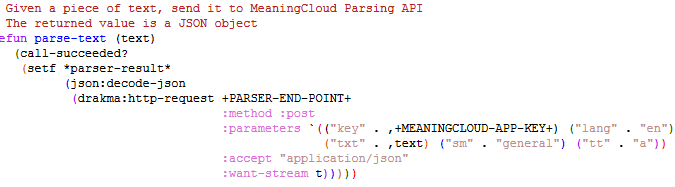 Parsing Text with MeaningCloud's Text Analytics API