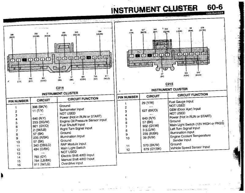 ford ranger tachometer wiring diagram
