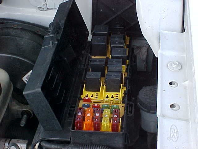 ford ranger fuse box location