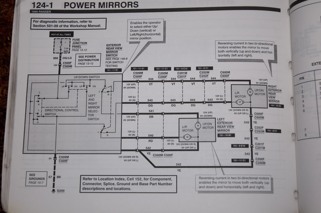 Power mirror wiring help - Ranger-Forums - The Ultimate Ford Ranger
