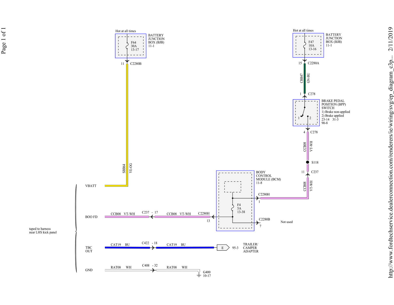ford wiring diagram for tow package