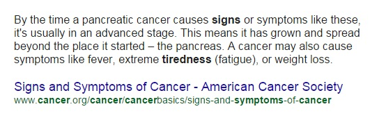 cancer symptoms