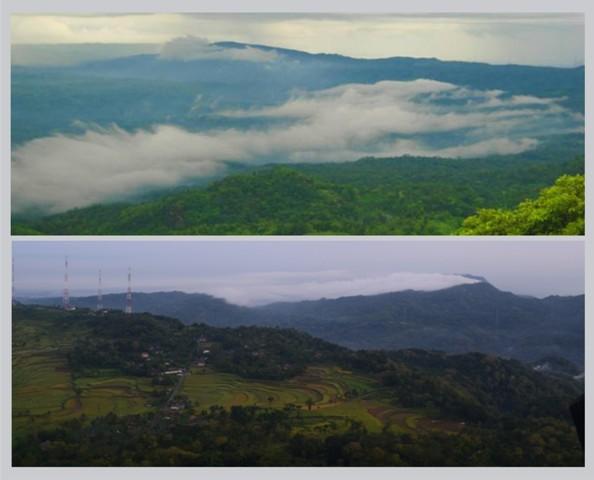 Panorama pagi dari puncak Nglanggeran