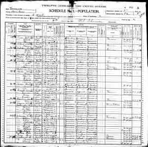 US 1900 Census of Morehouse parish, LA