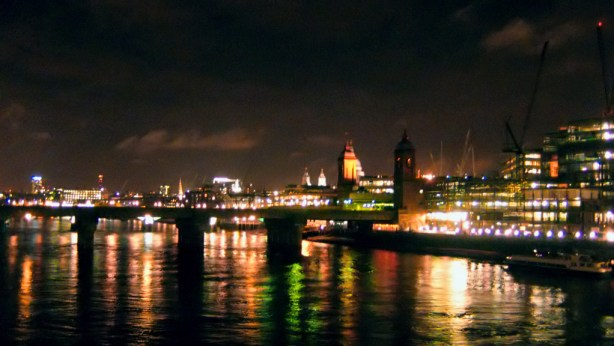 London by night, from the London Bridge