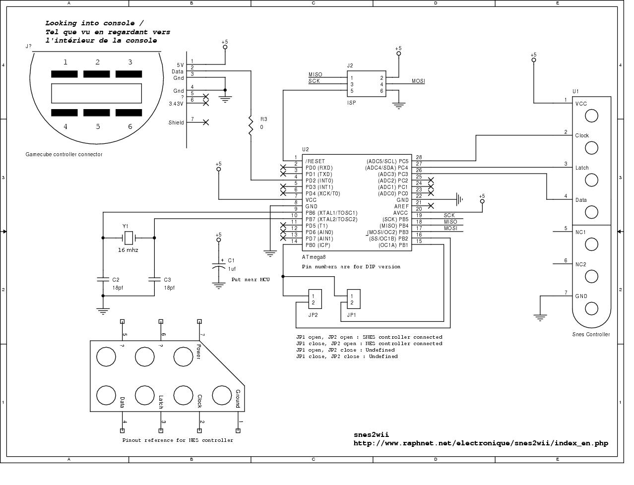 super nintendo controller wiring diagram