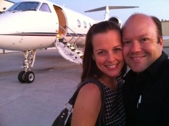 Kristi was able to ride along on an empty leg and get a taste of the high life aboard the Gulfstream.