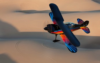 I provided some formation training to the owner of this glass panel-equipped (yes you read that right) Eagle biplane.