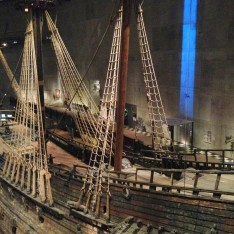 Even the Vasa's sails have partially survived their 333 years under the surface. Amazing...