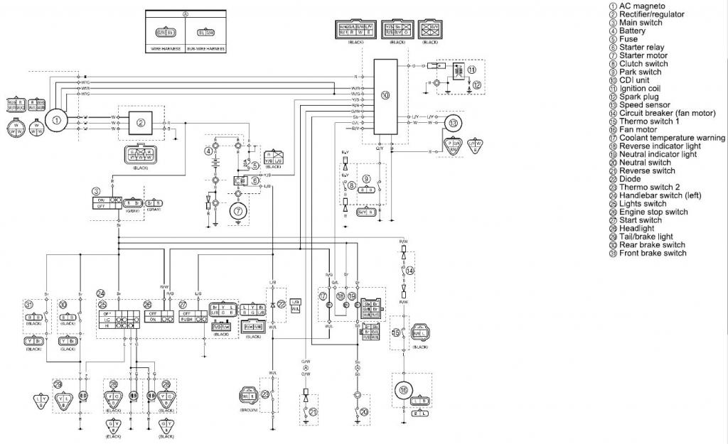 yamaha grizzly ignition switch wiring diagram