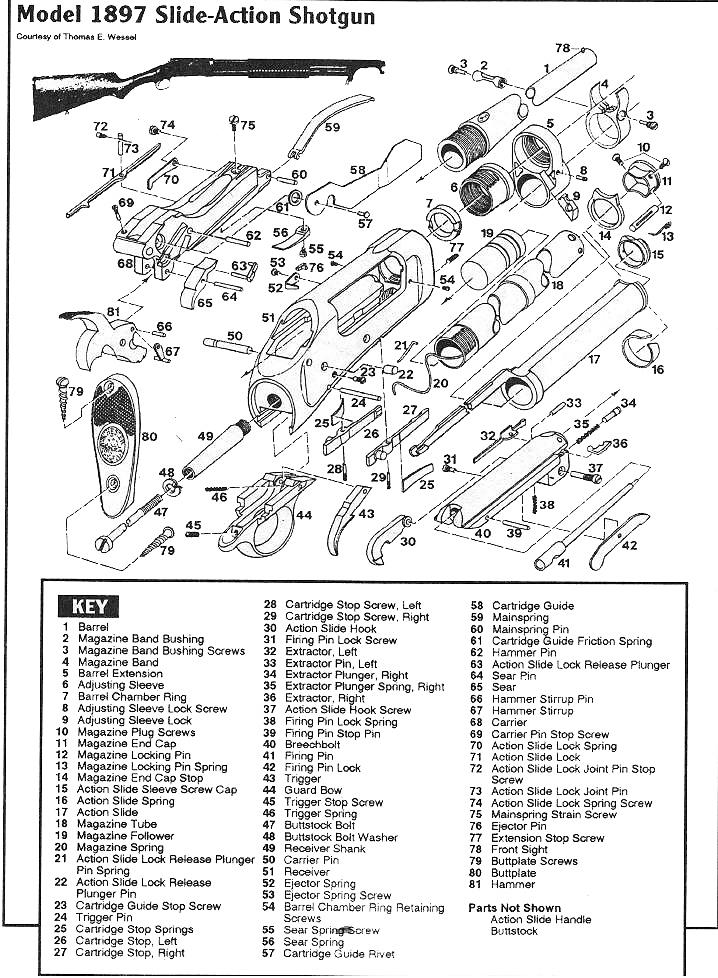 winchester 1897 schematic