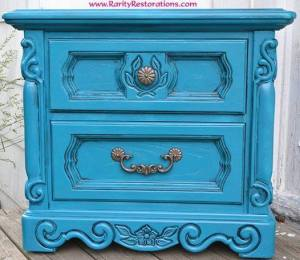 Rarity Restorations Turquoise End Table