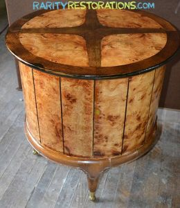 Weiman Burled Walnut Table - Rarity Restorations