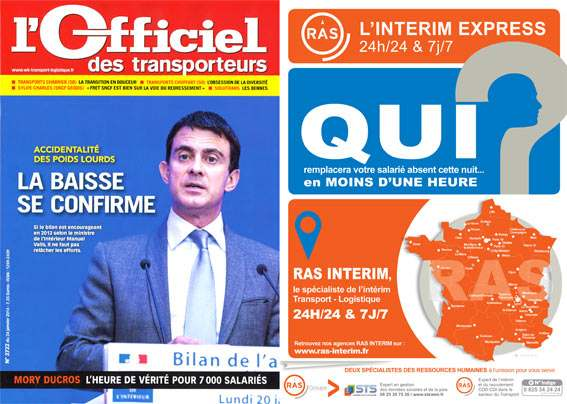 Revue presse RAS interim officiel des transports