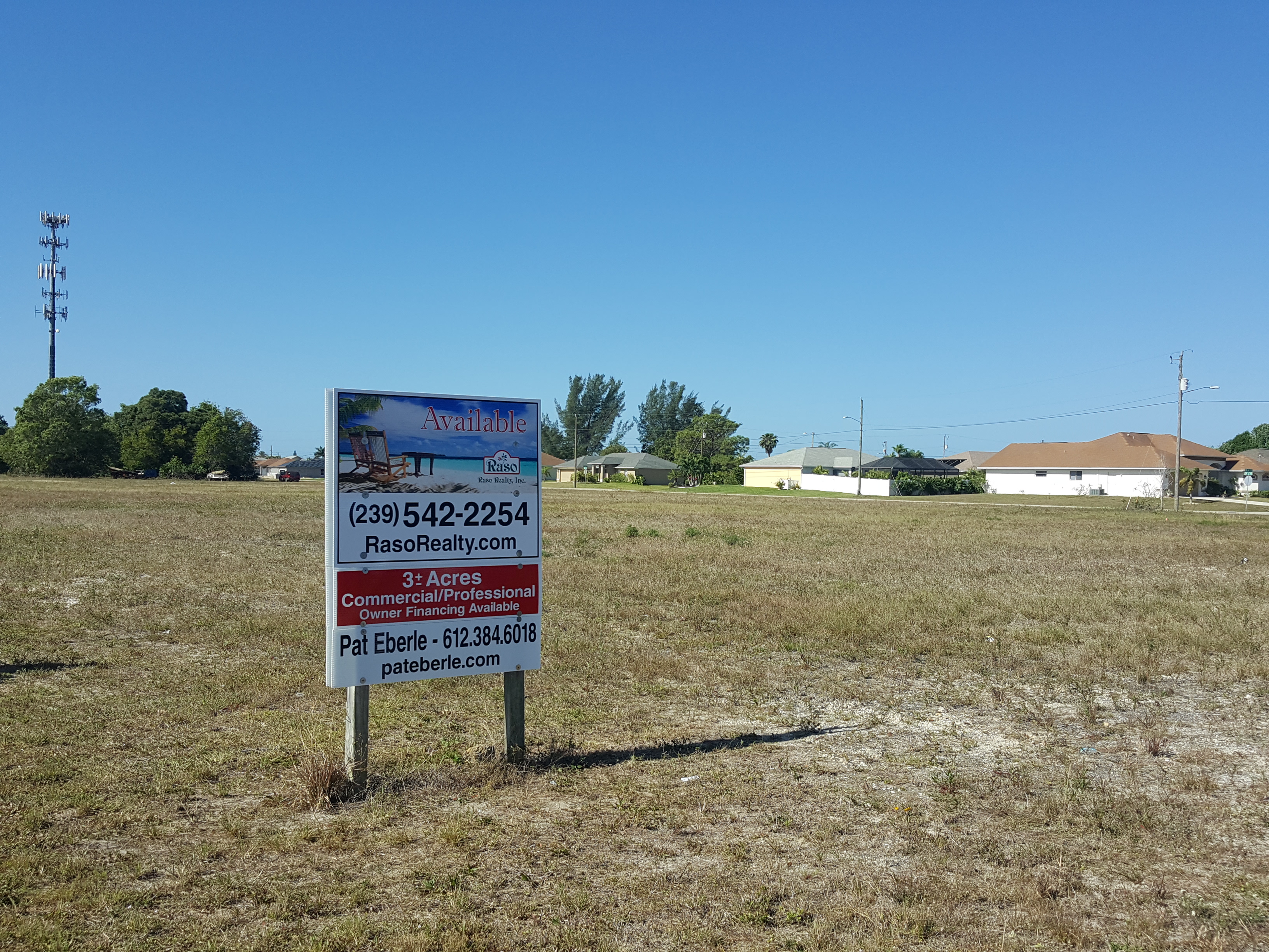 Commercial/Professional 3 acres in SW Cape Coral