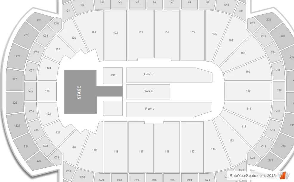 Xcel Energy Center Concert Seating Chart  Interactive Map