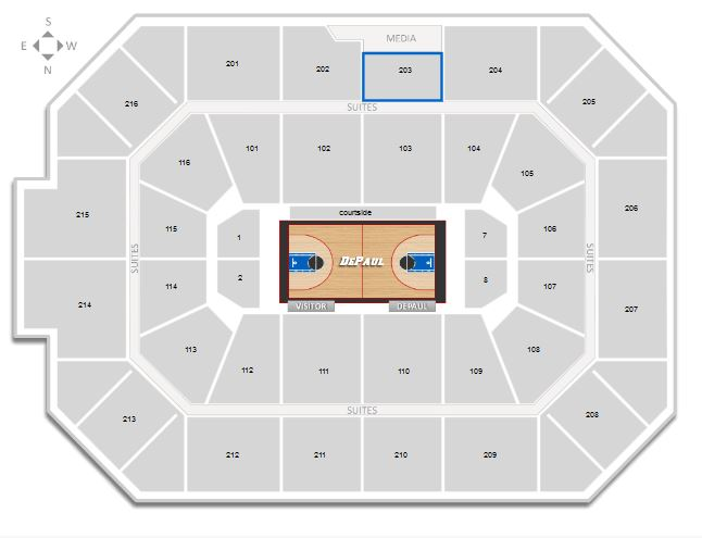 Allstate Arena Seating Chart Northwestern Basketball - Allstate