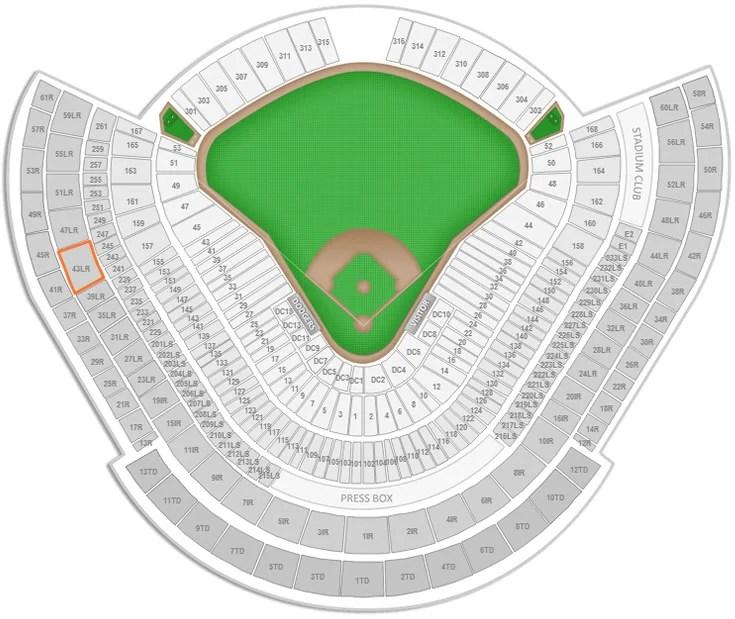 Los Angeles Dodgers Dodger Stadium Seating Chart - RateYourSeats