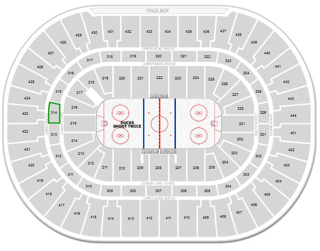 Anaheim Ducks Honda Center Seating Chart  Interactive Map