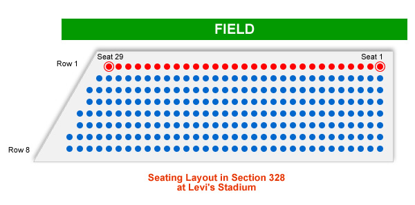 San Francisco 49ers Levi\u0027s Stadium Seating Chart - RateYourSeats