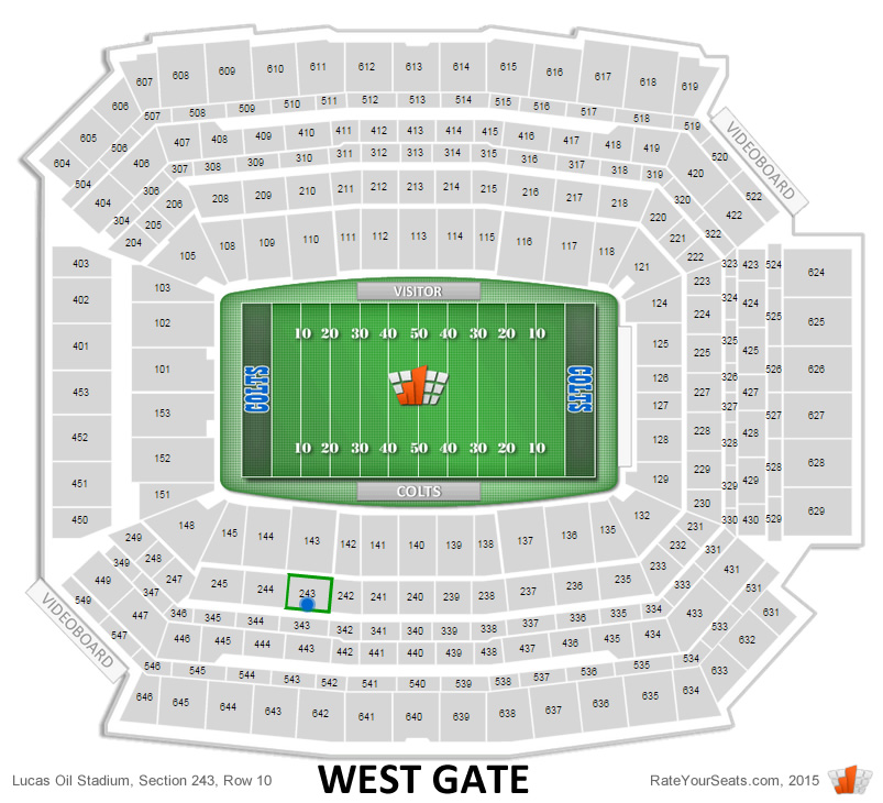 Indianapolis Colts Lucas Oil Stadium Seating Chart - RateYourSeats