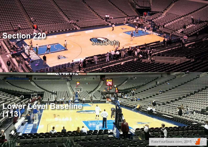Which are better seats at a Mavs game - Platinum Level Center (220