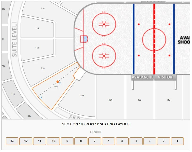 Colorado Avalanche Pepsi Center Seating Chart - RateYourSeats