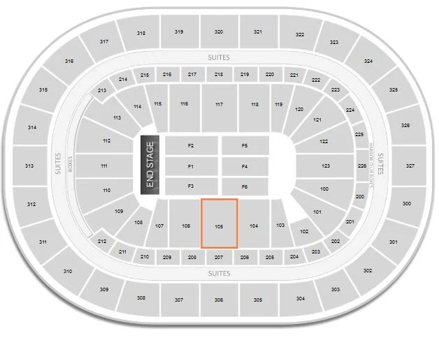 KeyBank Center Concert Seating Chart  Interactive Map