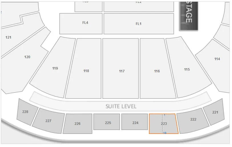 philips arena seating chart with rows and seat numbers inspirational