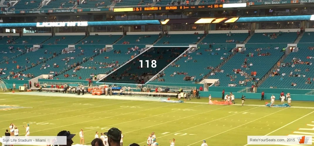 Dolphins  Miami FL Hard Rock Stadium Seating Chart - RateYourSeats