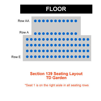 Boston Bruins TD Garden Seating Chart  Interactive Map